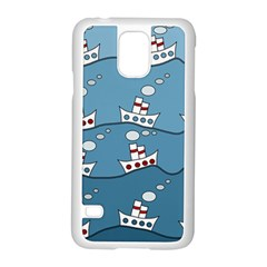 Boats Samsung Galaxy S5 Case (White)