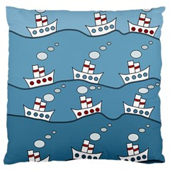 Boats Standard Flano Cushion Case (Two Sides)