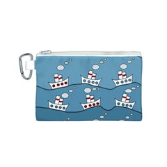 Boats Canvas Cosmetic Bag (S)