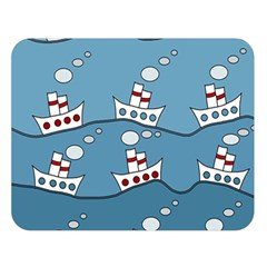 Boats Double Sided Flano Blanket (Large)