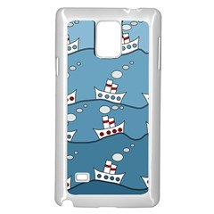Boats Samsung Galaxy Note 4 Case (White)