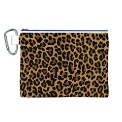 Tiger Skin Art Pattern Canvas Cosmetic Bag (L)