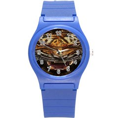 Tiger Face Round Plastic Sport Watch (S)