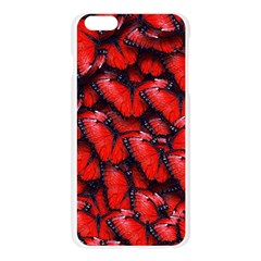 The Red Butterflies Sticking Together In The Nature Apple Seamless iPhone 6 Plus/6S Plus Case (Transparent)