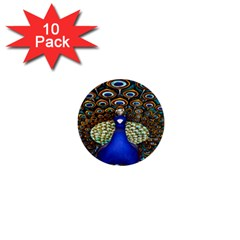 The Peacock Pattern 1  Mini Buttons (10 pack)