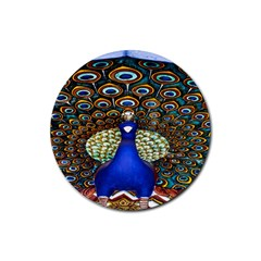 The Peacock Pattern Rubber Round Coaster (4 pack)
