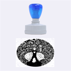 The Peacock Pattern Rubber Oval Stamps