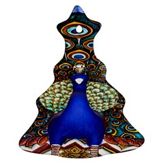 The Peacock Pattern Christmas Tree Ornament (2 Sides)