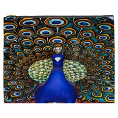 The Peacock Pattern Cosmetic Bag (XXXL)
