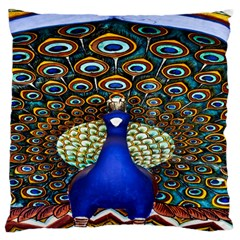 The Peacock Pattern Large Flano Cushion Case (One Side)