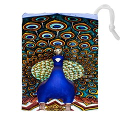 The Peacock Pattern Drawstring Pouches (XXL)