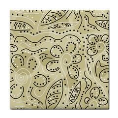 Floral decor  Tile Coasters