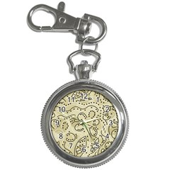 Floral decor  Key Chain Watches