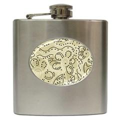 Floral decor  Hip Flask (6 oz)