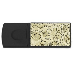 Floral decor  USB Flash Drive Rectangular (2 GB)