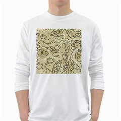 Floral decor  White Long Sleeve T-Shirts