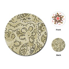 Floral decor  Playing Cards (Round)