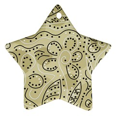 Floral decor  Star Ornament (Two Sides)