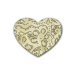Floral decor  Heart Coaster (4 pack)