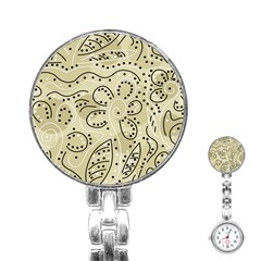 Floral decor  Stainless Steel Nurses Watch