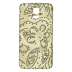Floral decor  Samsung Galaxy S5 Back Case (White)
