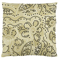 Floral decor  Large Flano Cushion Case (One Side)
