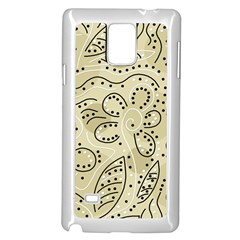 Floral decor  Samsung Galaxy Note 4 Case (White)