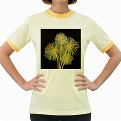 Dandelions Women s Fitted Ringer T-Shirts