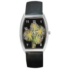 Dandelions Barrel Style Metal Watch