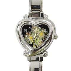 Dandelions Heart Italian Charm Watch