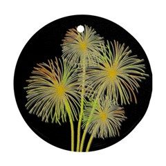 Dandelions Round Ornament (Two Sides)