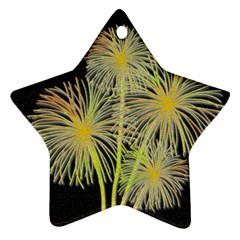 Dandelions Star Ornament (Two Sides)