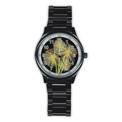 Dandelions Stainless Steel Round Watch