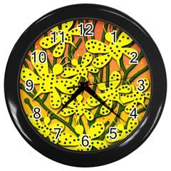 Bees Wall Clocks (Black)