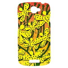 Bees HTC One S Hardshell Case