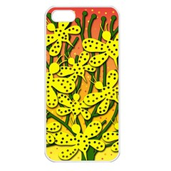 Bees Apple iPhone 5 Seamless Case (White)