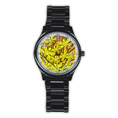 Bees Stainless Steel Round Watch