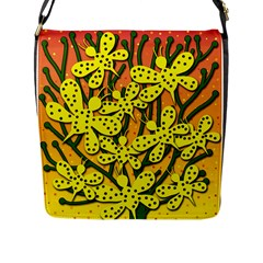 Bees Flap Messenger Bag (L)