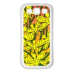 Bees Samsung Galaxy S3 Back Case (White)