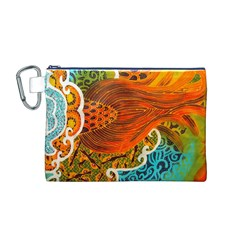 The Beautiful Of Art Indonesian Batik Pattern Canvas Cosmetic Bag (M)