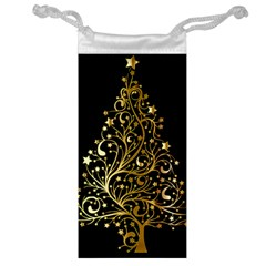 Decorative Starry Christmas Tree Black Gold Elegant Stylish Chic Golden Stars Jewelry Bags
