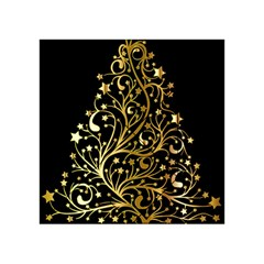 Decorative Starry Christmas Tree Black Gold Elegant Stylish Chic Golden Stars Acrylic Tangram Puzzle (4  x 4 )