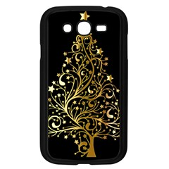 Decorative Starry Christmas Tree Black Gold Elegant Stylish Chic Golden Stars Samsung Galaxy Grand DUOS I9082 Case (Black)