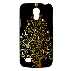 Decorative Starry Christmas Tree Black Gold Elegant Stylish Chic Golden Stars Galaxy S4 Mini