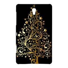 Decorative Starry Christmas Tree Black Gold Elegant Stylish Chic Golden Stars Samsung Galaxy Tab S (8.4 ) Hardshell Case