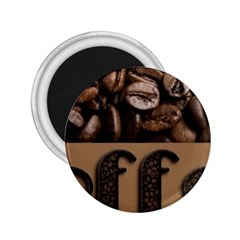 Funny Coffee Beans Brown Typography 2.25  Magnets