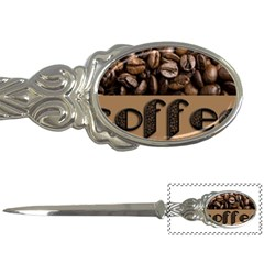 Funny Coffee Beans Brown Typography Letter Openers