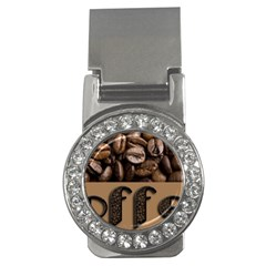 Funny Coffee Beans Brown Typography Money Clips (CZ)