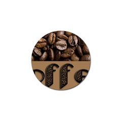 Funny Coffee Beans Brown Typography Golf Ball Marker