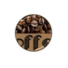 Funny Coffee Beans Brown Typography Hat Clip Ball Marker (10 pack)